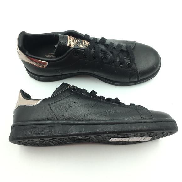 1ff3600faef Adidas Black Stan Smith Rose Gold G1411686
